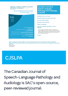 Canadian Journal of Speech-Language Pathology and Audiology