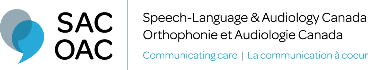 Speech-Language and Audiology Canada logo Communicating care